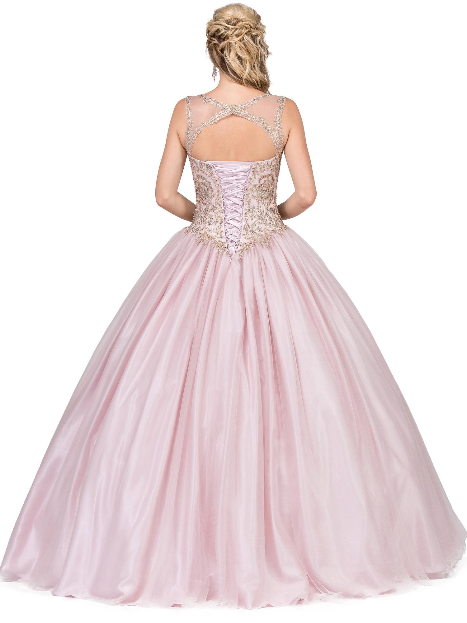 vestido rosa quince años trasero star dance